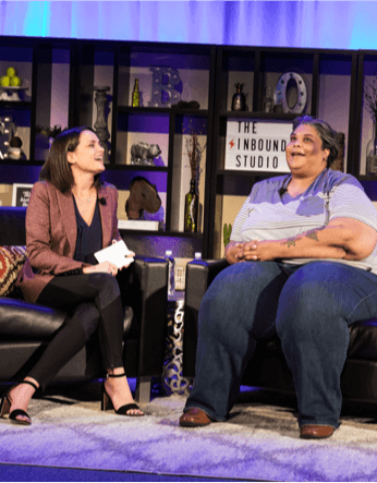 Roxanne Gay interviewed by Laura Moran on the INBOUND Studio