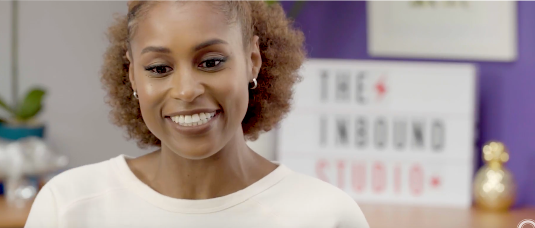Issa Rae on the set of INBOUND Studio