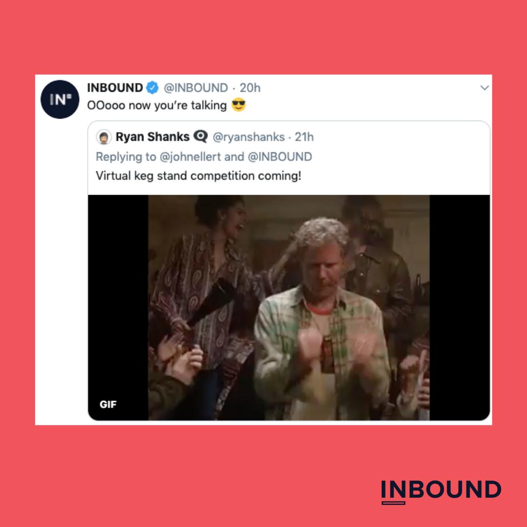 inbound 2020 party keg tweet